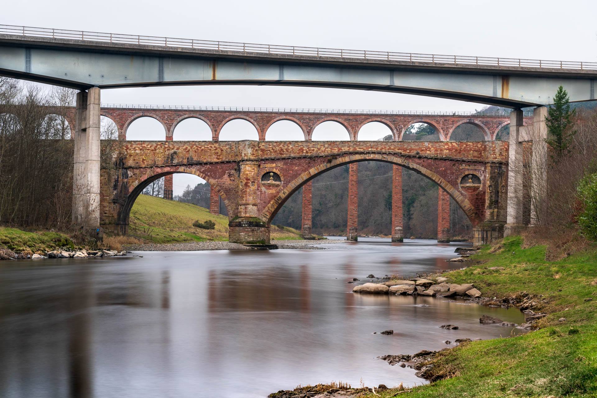 Leaderfoot Viaduct viewpoint 4   f/8 30sec ISO-400 60mm