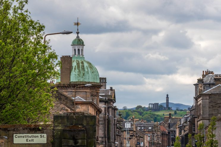 Calton Hill - View from Constitution St. | f/8 1/200sec ISO-100 97mm  | ILCE-7RM3