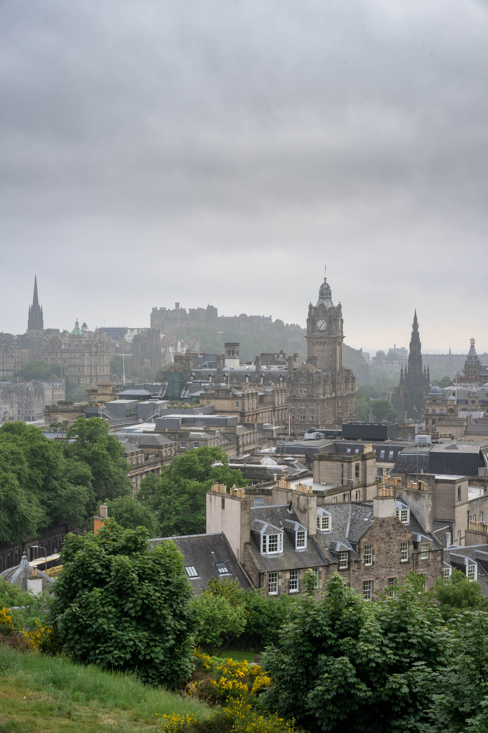 View from Calton Hill | f/13 1/60sec ISO-200 55mm  | ILCE-7M2