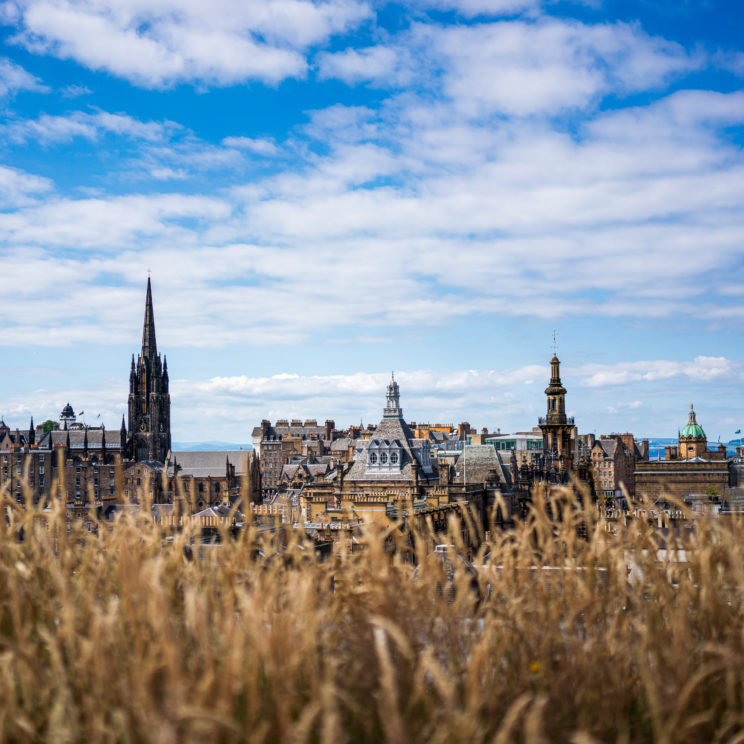 Edinubrgh skyline - seen from the roof of National Museum of Scotland | f/2.8 1/4000sec ISO-100 35mm  | ILCE-7RM3