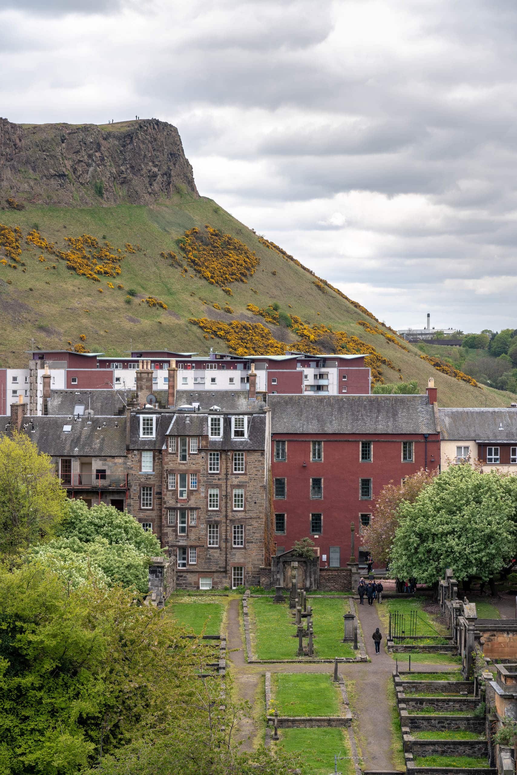 Salisbury Crags - view from Regent Road | f/8 1/160sec ISO-100 97mm  | ILCE-7RM3