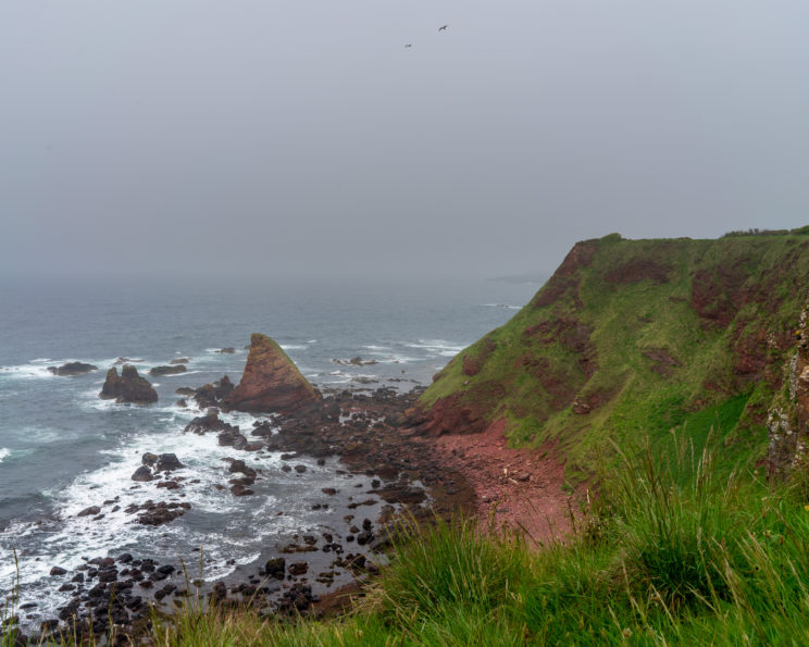 Cliffs near Eyemouth | f/11 1/200sec ISO-100 28mm  | ILCE-7M2