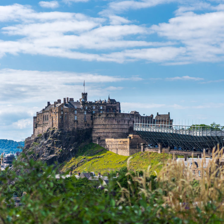 Edinburgh Castle seen from the roof National Museum of Scotland