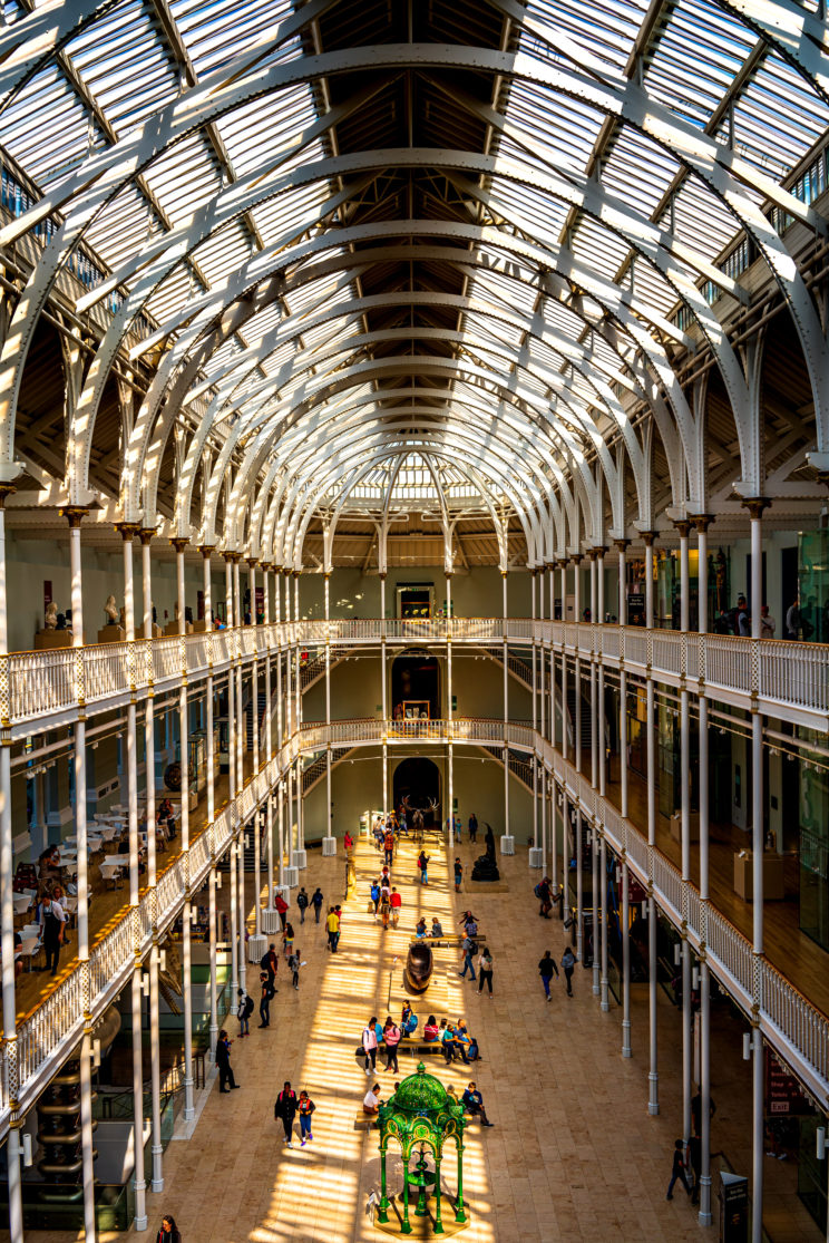 Inside the National Museum of Scotland | f/8 1/80sec ISO-100 35mm  | ILCE-7RM3