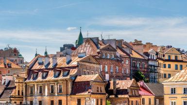 Old Town skyline Lublin