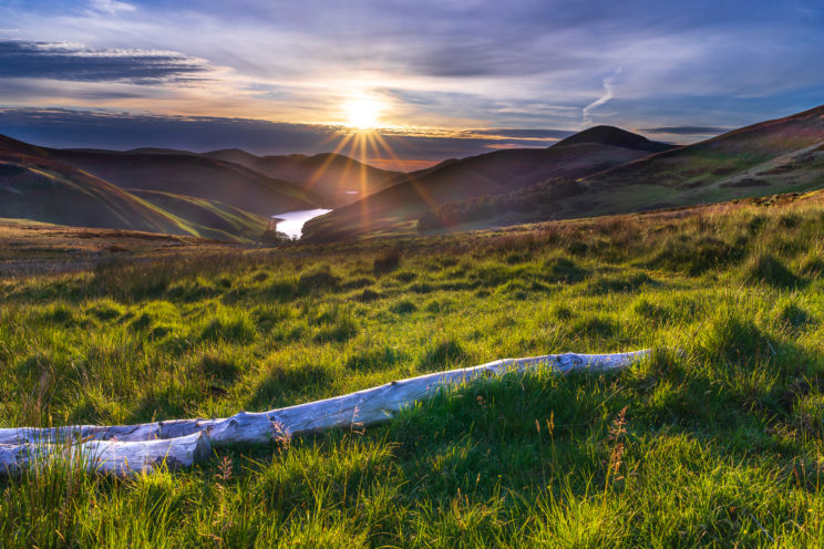 Sunrise in Pentland Hills | f/13 1/640sec ISO-100 28mm  | ILCE-7M2