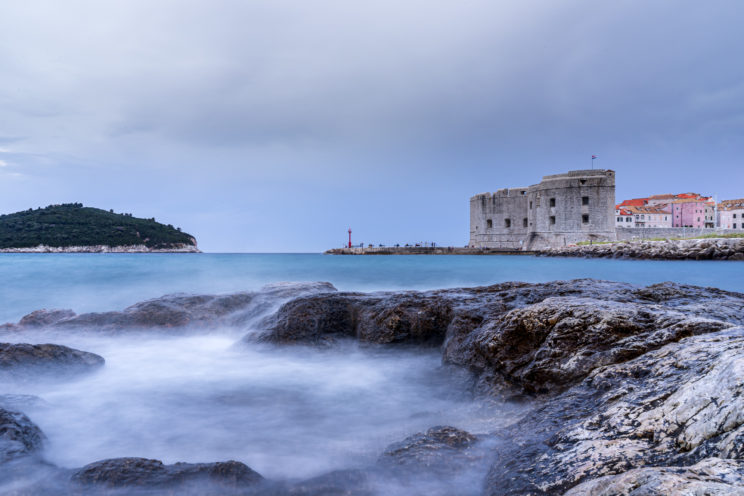 View of the Old Town port in Dubrovnik | f/22 10sec ISO-50 28mm  | ILCE-7M2