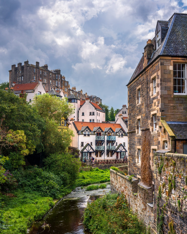 Dean Village A view over the Water of Leith | f/8 1/400sec ISO-100 35mm  | ILCE-7RM3