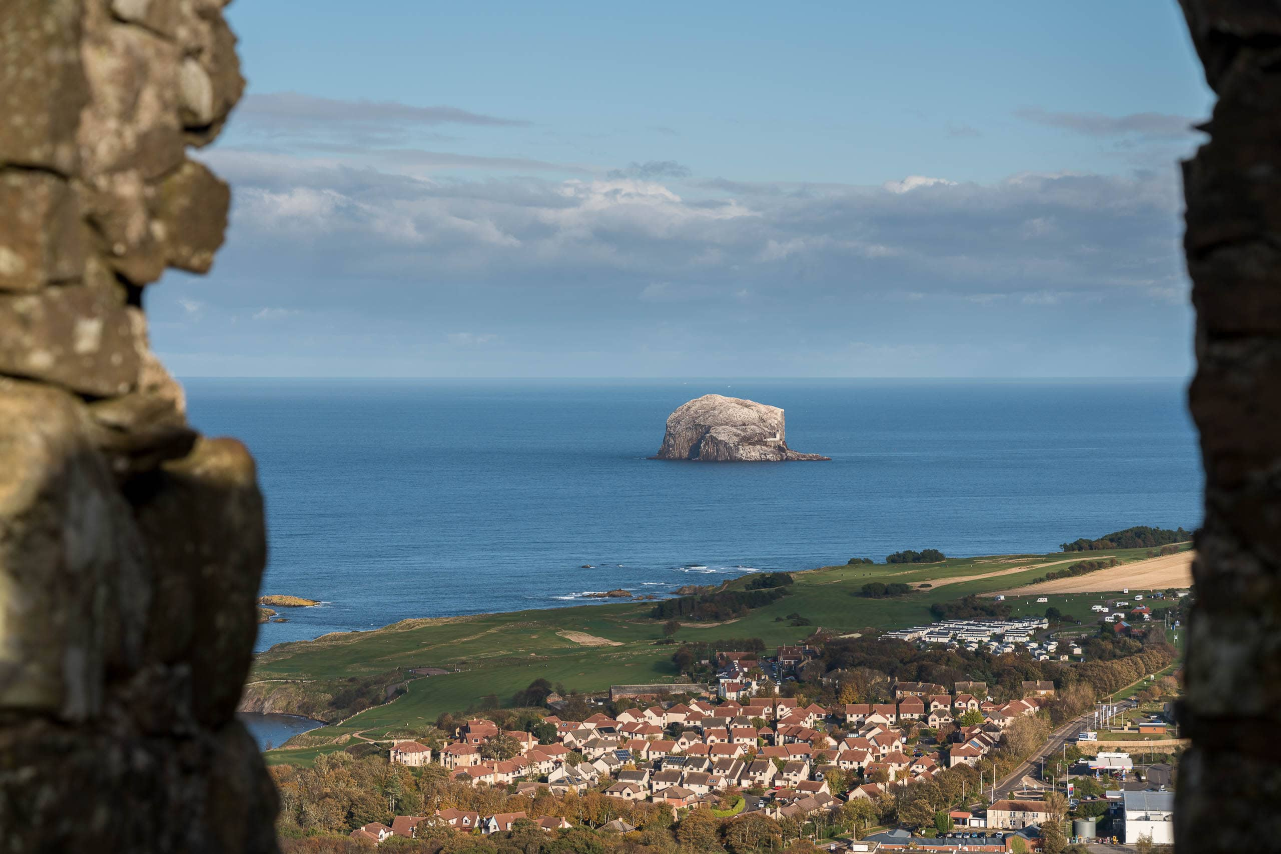View from North Berwick Law towards Bass Rock | f/8 1/320sec ISO-100 86mm  | ILCE-7RM3