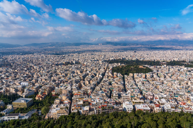 A view from Lycabettus Hill