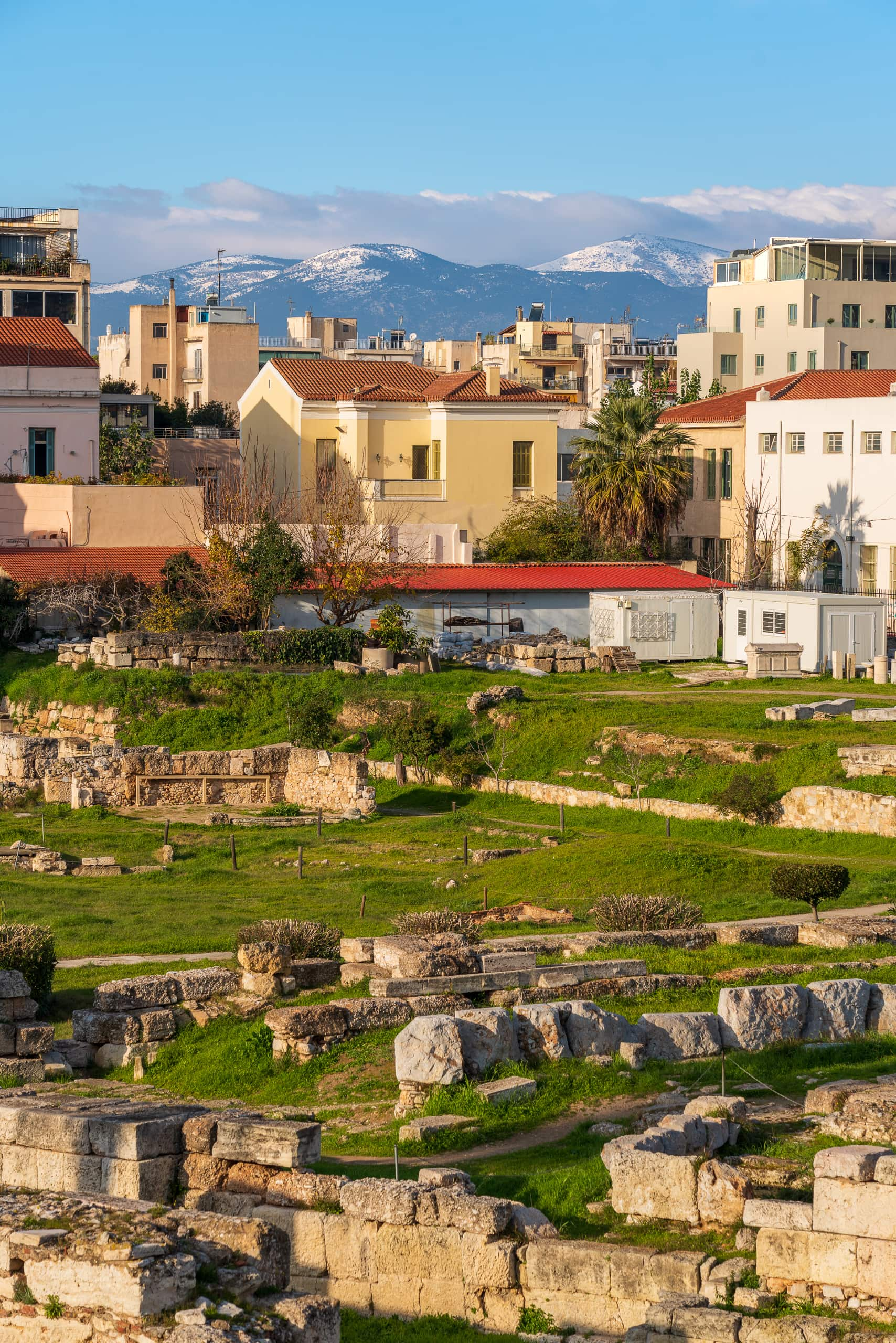 Archaeological Site of Kerameikos city and mountains