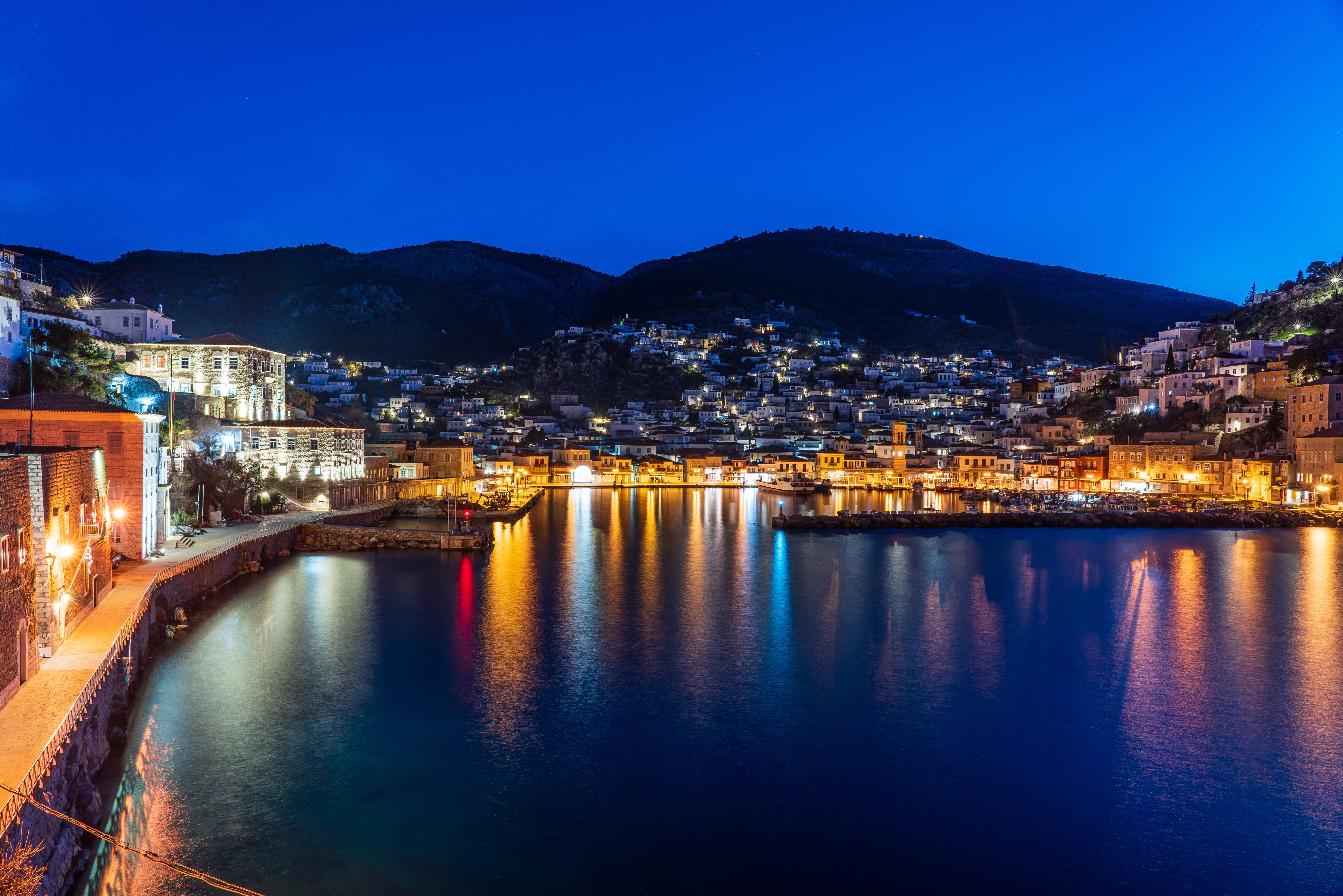 Greece - Blue hour at Hydra| f/8 30sec ISO-100 24mm  | ILCE-7RM3