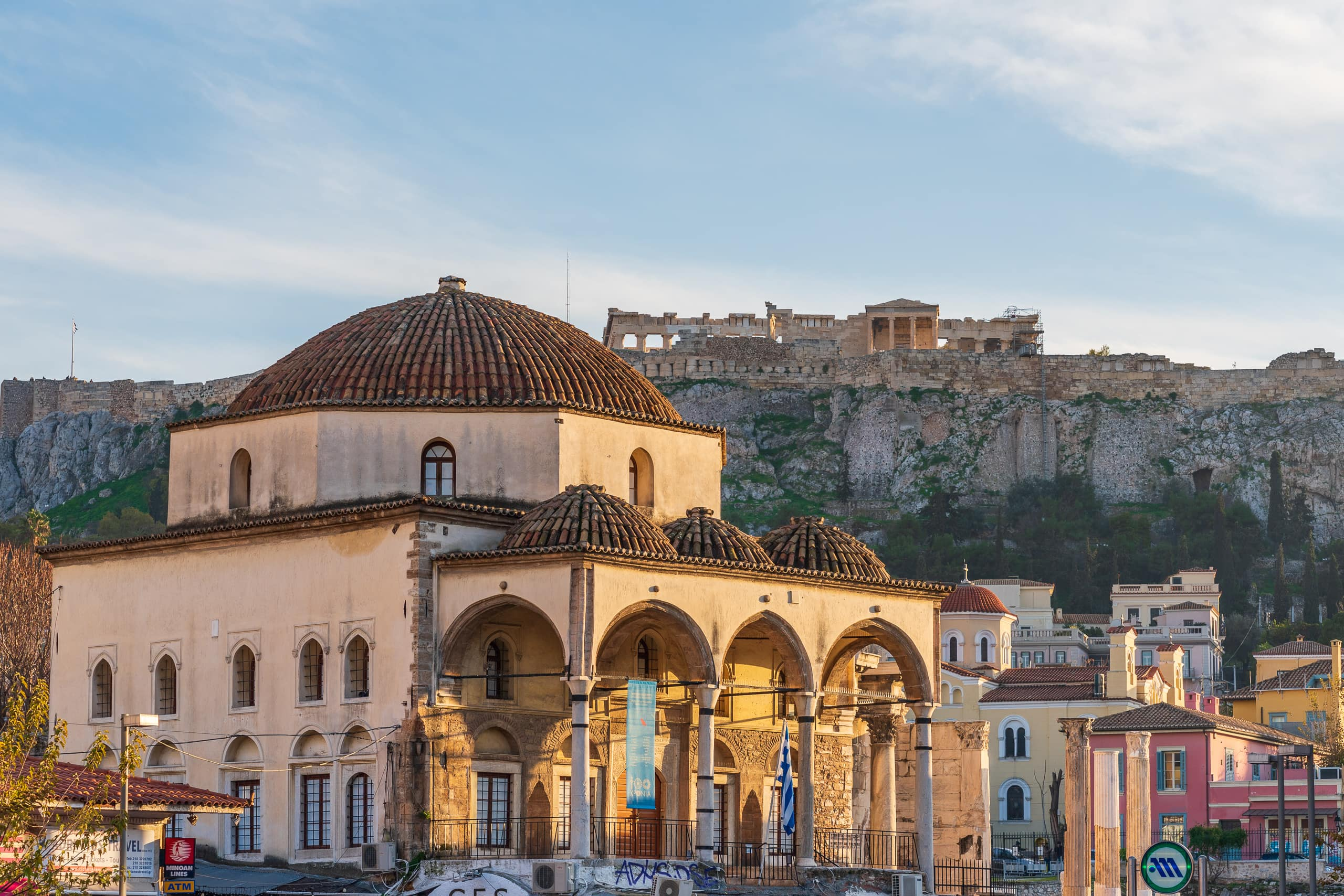 View towards Parthenon from Monastiraki Square